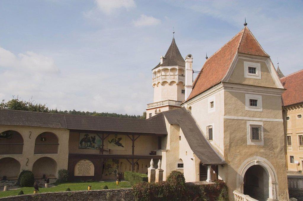 rosenburg castle, horn, austria : Stock Photo