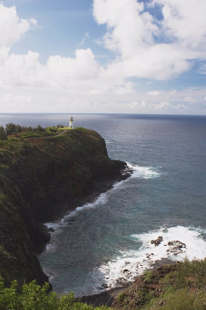 Stock Photo: 1889-45760 kilauea lighthouse, kilauea point, kauai, hawaii, usa