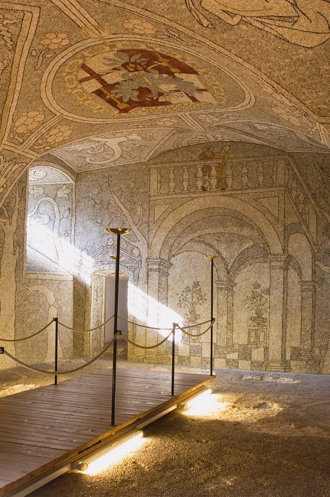 Stock Photo: 1889-45807 mosaic in a castle, grein, austria