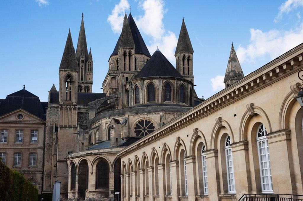 Stock Photo: 1889-55959 abbaye_aux_hommes, caen, normandy, france