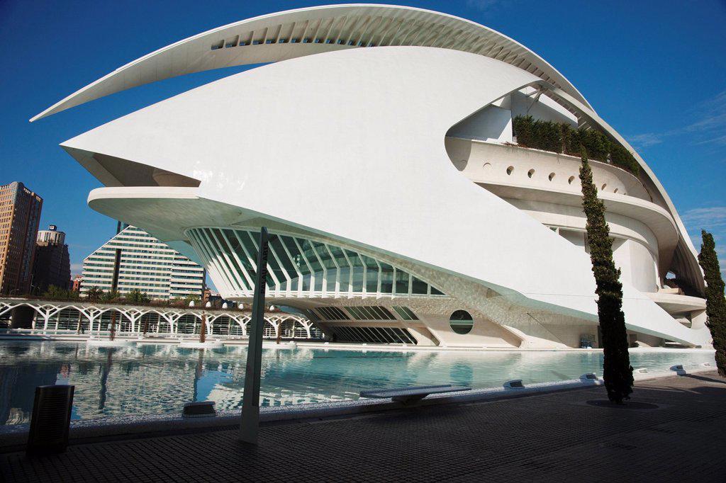 Palau De Les Arts At The City Of Arts And Sciences, Valencia, Spain : Stock Photo
