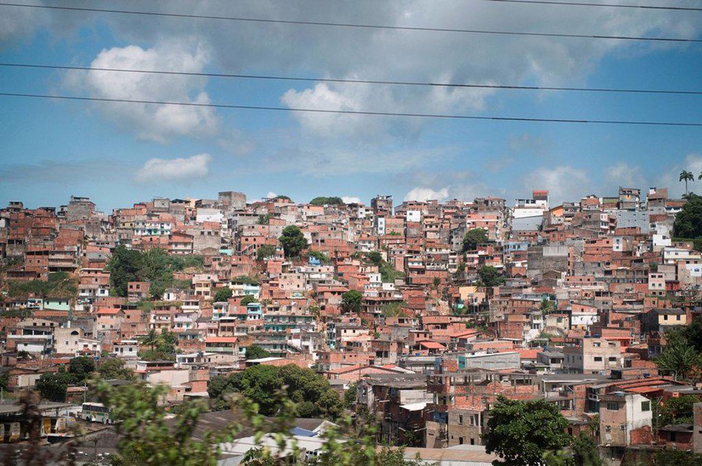 Stock Photo: 1889-57951 Slums of Bahia, Brazil