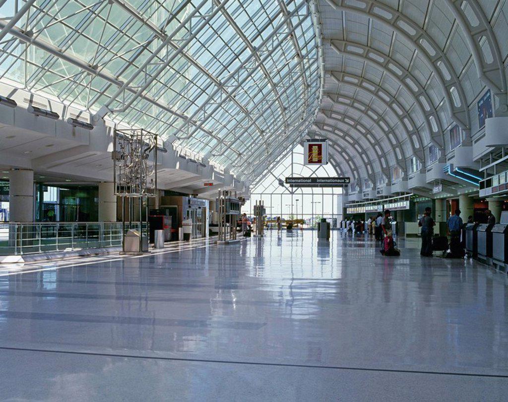 Terminal 3, Pearson International Airport, Toronto, Ontario, Canada : Stock Photo