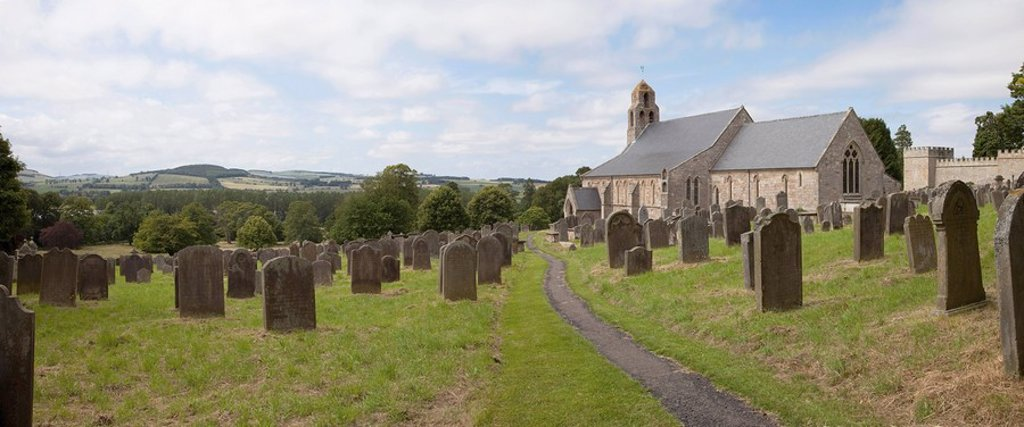 Church of St. Michael and all Angels, Ford and Etal, Northumberland, England : Stock Photo