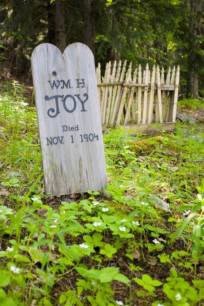 Stock Photo: 1889-58763 Gold Rush Cemetery, Skagway, Alaska, USA