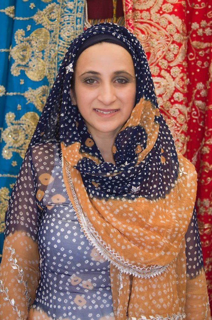 Stock Photo: 1889-58766 Traditional Pakistani dress, Asian Festival, Heritage Square & Science Park, Phoenix, Arizona, USA