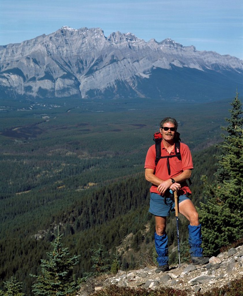 Stock Photo: 1889-59087 Hiking in the Rocky Mountains, Canmore, Alberta, Canada