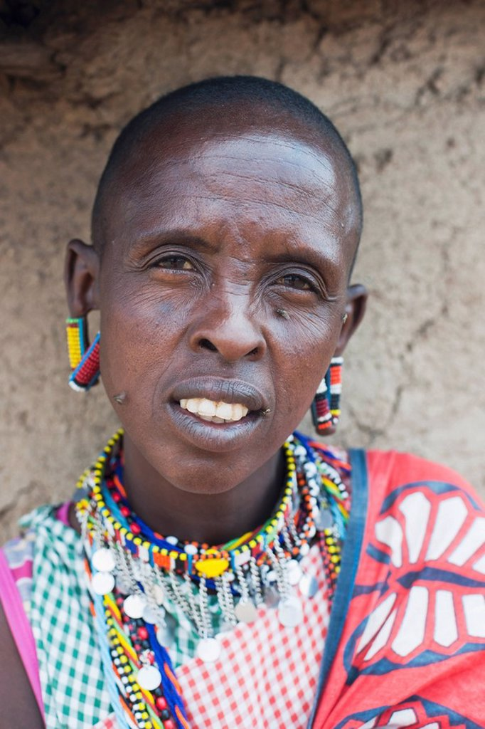 Stock Photo: 1889-59498 Man of Maasai Mara tribe, Kenya, Africa