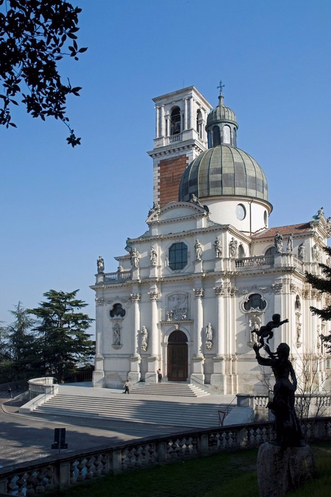 Stock Photo: 1889-59888 Vicenza, Italy, The Monte Berico Basilica