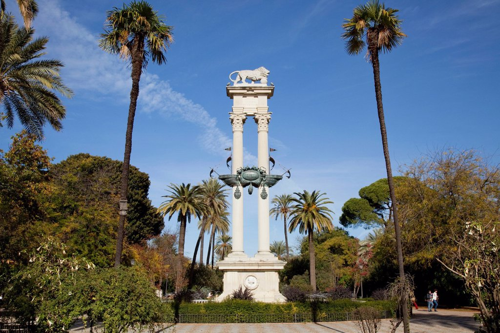 Stock Photo: 1889-65339 christopher columbus monument, sevilla andalucia spain