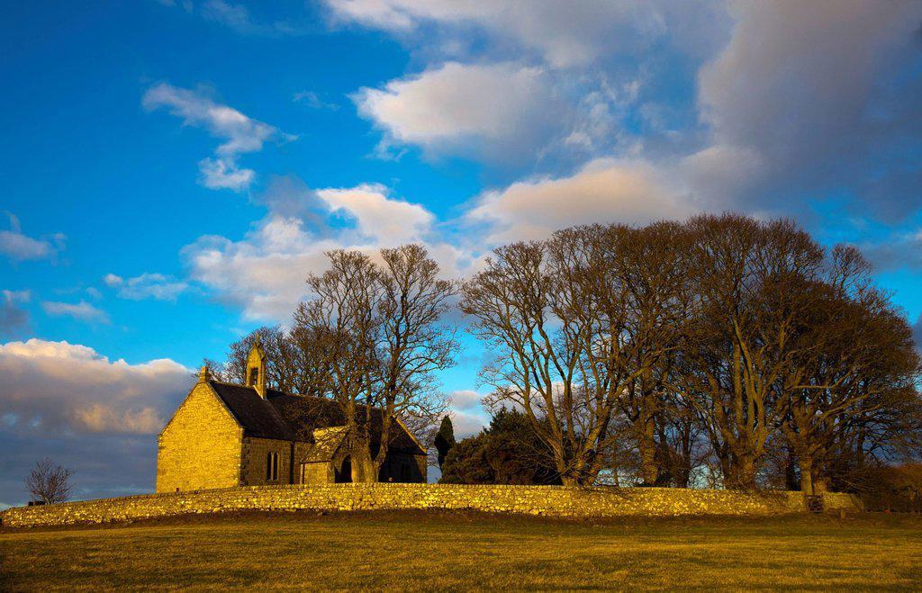 st. oswald´s church, northumberland, england : Stock Photo