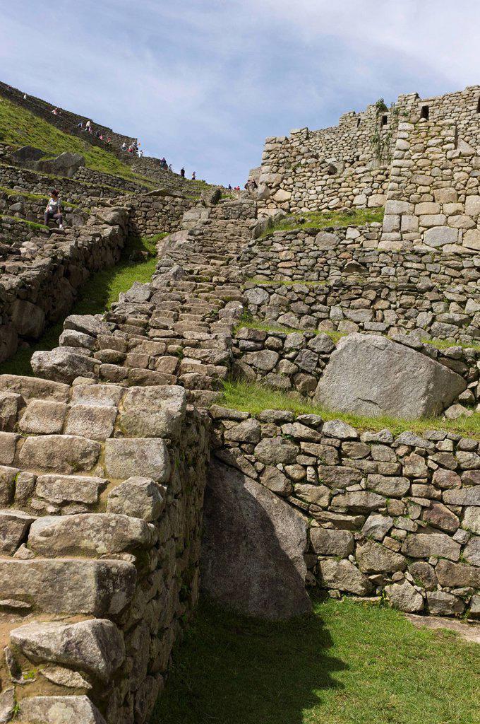 the historic inca site machu picchu, peru : Stock Photo