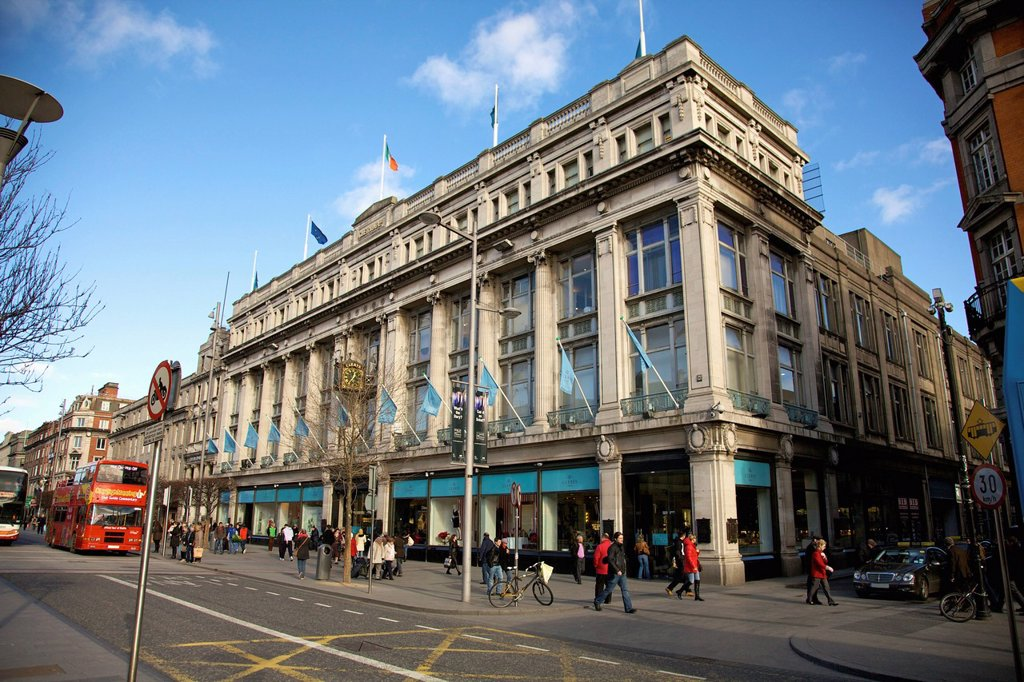 clerys on o´connell street, dublin ireland : Stock Photo