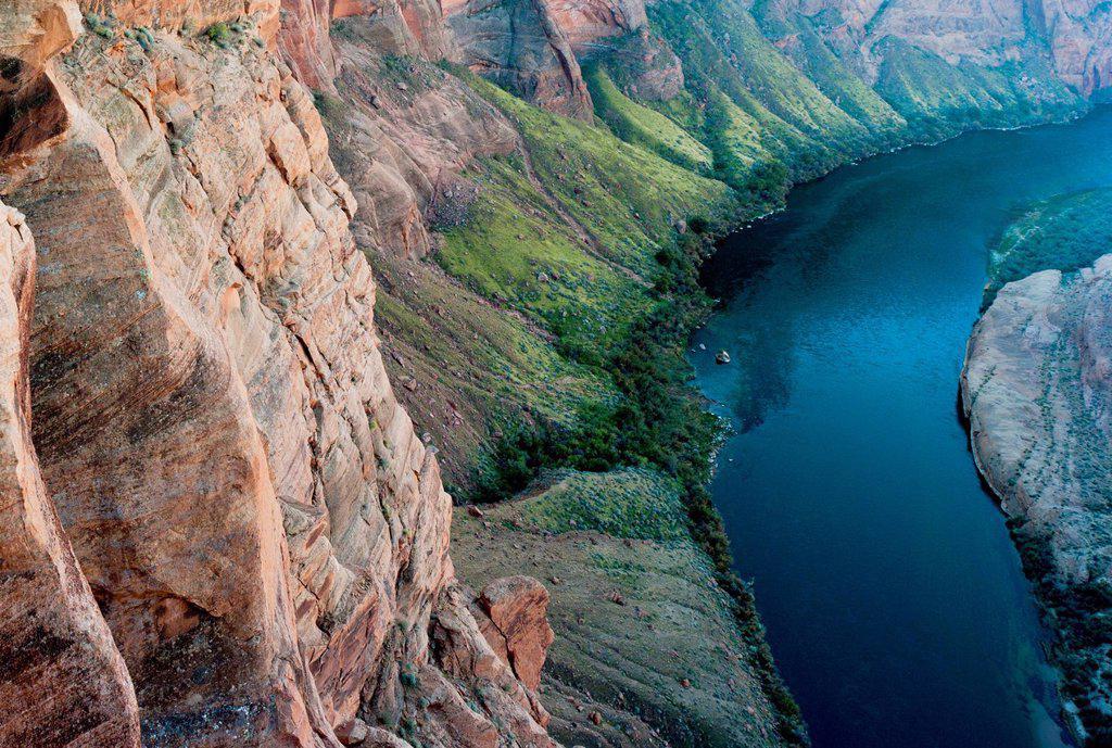 View Of The Colorado River, Arizona United States Of America : Stock Photo