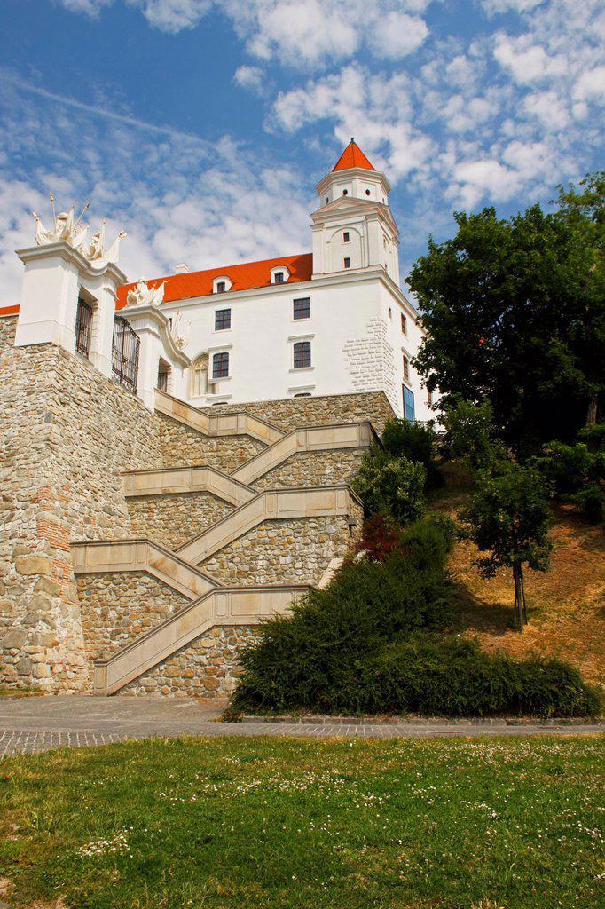 Bratislava castle, bratislava slovakia : Stock Photo