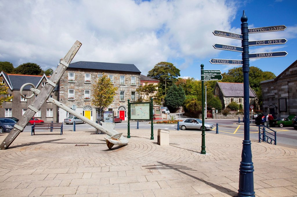 The market square, bantry county cork ireland : Stock Photo