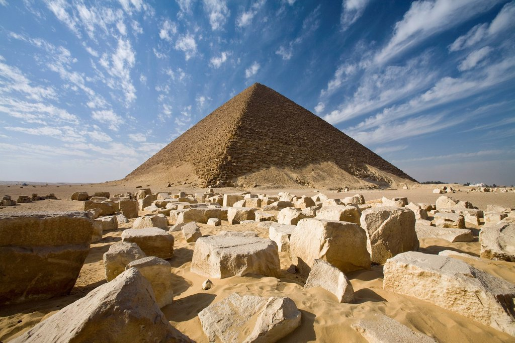 Stock Photo: 1889-75293 The Red Pyramid, Dashur Egypt