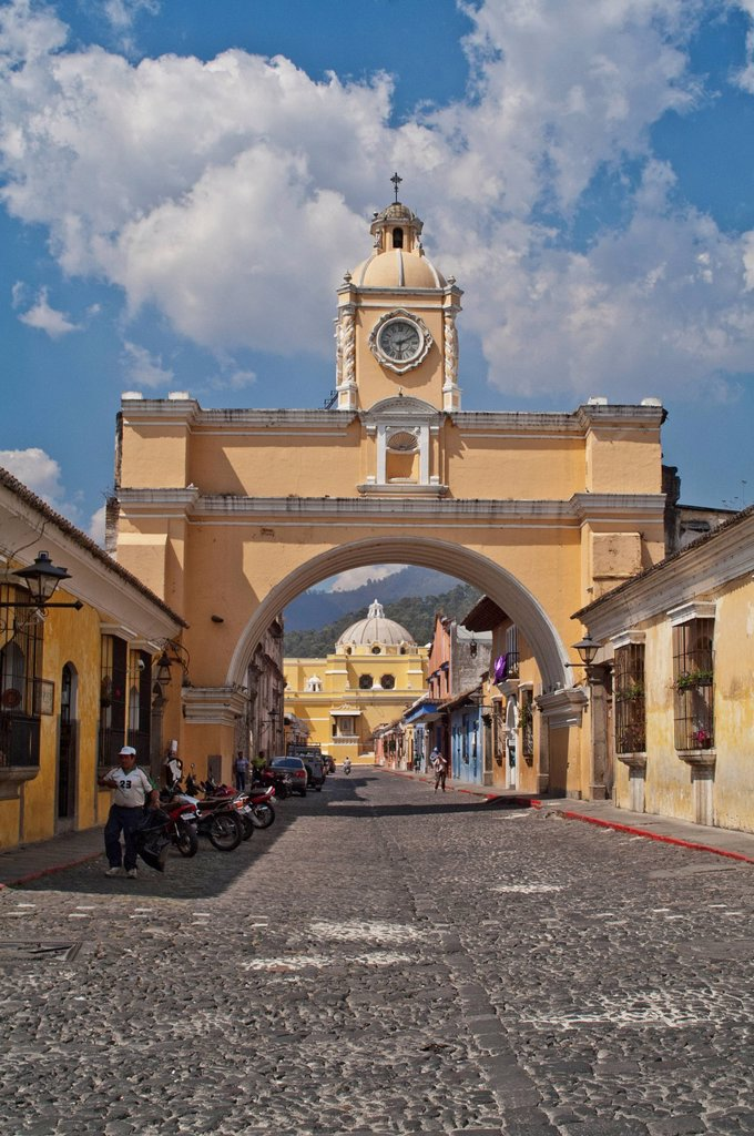 Stock Photo: 1889-75404 Santa Catarina Arch, Antigua Guatemala