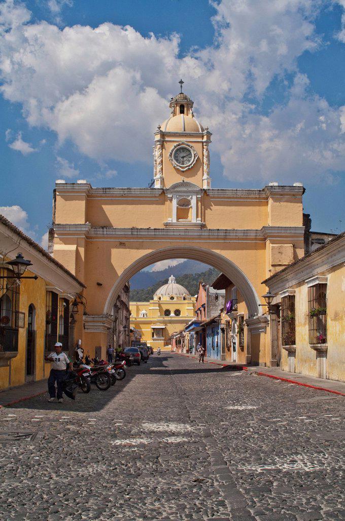 Stock Photo: 1889-75404 Santa Catarina Arch, Antigua Guatemala