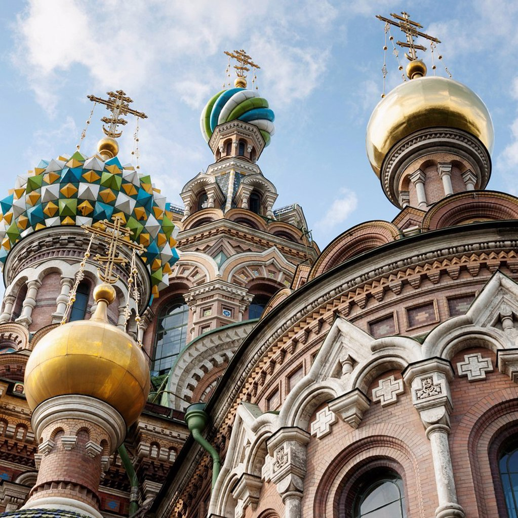Stock Photo: 1889-75479 Church of the savior on spilled blood, st. petersburg russia