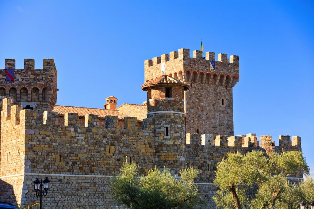 Stock Photo: 1889-75932 Castello Di Amorosa Winery, Napa Area California United States Of America