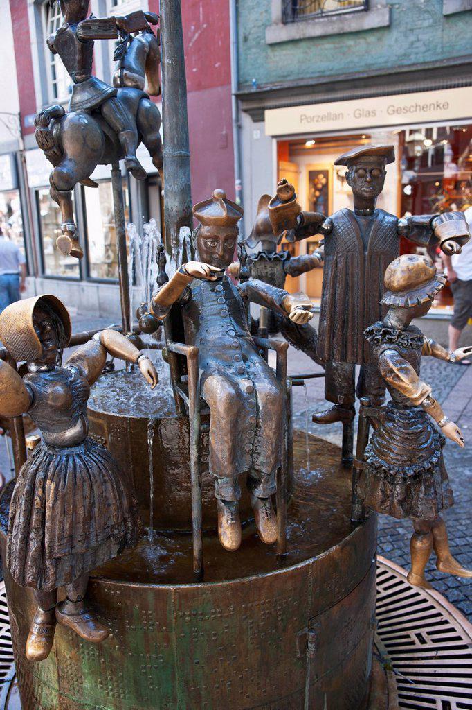 Stock Photo: 1889-75990 Dolls Fountain, Aachen North Rhine_Westphalia Germany