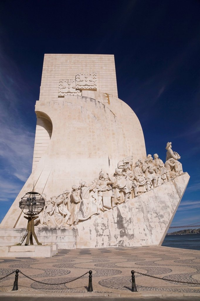 Stock Photo: 1889-76074 Discoveries Monument, Lisbon Portugal