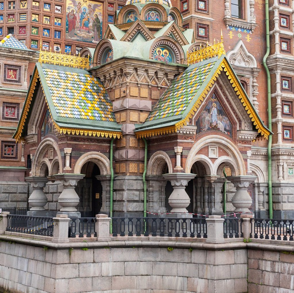 Stock Photo: 1889-76154 Church of the savior on spilled blood, st. petersburg russia