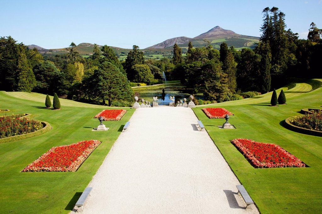 Powerscourt house and gardens, enniskerry county wicklow ireland : Stock Photo