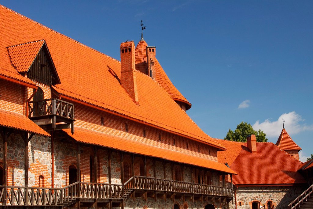 Stock Photo: 1889-76536 Castle Courtyard, Trakai Lithuania