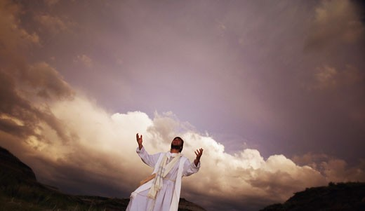 Stock Photo: 1889R-10227 Jesus talks