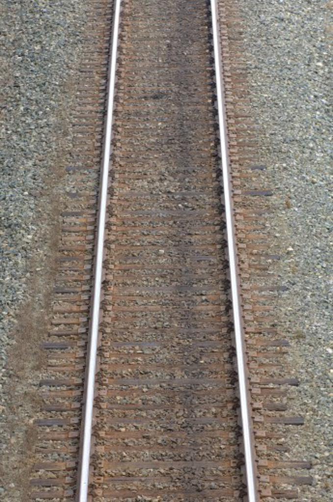 Stock Photo: 1889R-10244 Railroad tracks