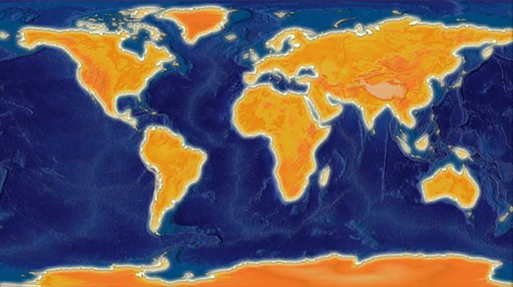 Stock Photo: 1889R-10889 World Map Illustration