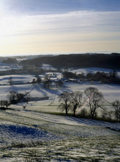 Stock Photo: 1889R-11157 View of a winter landscape from Loughcrew, County Meath, Ireland