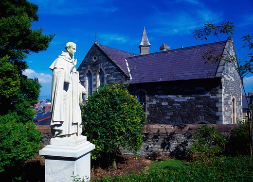 Statue of St. Columb, Waterside, Derry City, Ireland : Stock Photo