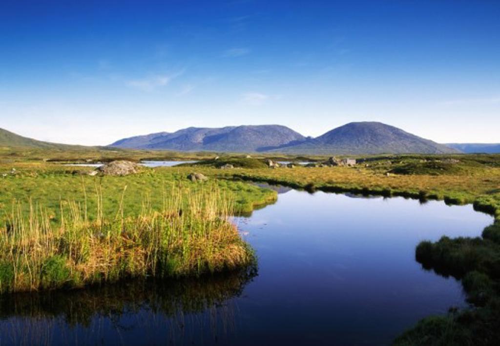 Co Galway, Near Recess, Connemara, Ireland : Stock Photo