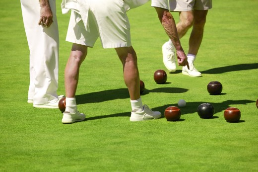 People lawn bowling : Stock Photo