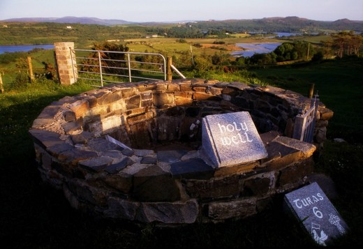 Holy Well, St Colmcille's birthplace, Gartan, Co Donegal, Ireland : Stock Photo