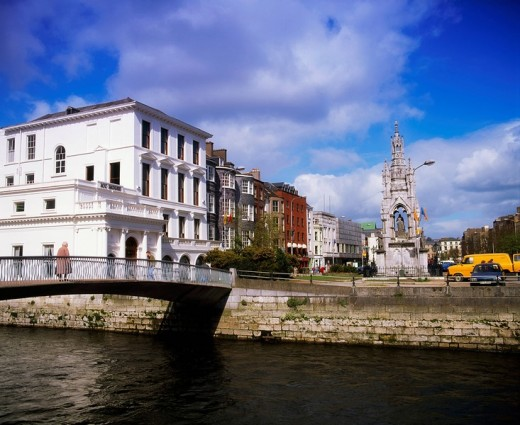 Cork City, South Mall and Grand Parade, Ireland : Stock Photo