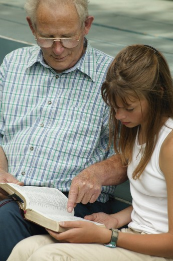 Stock Photo: 1889R-1206 Reading together