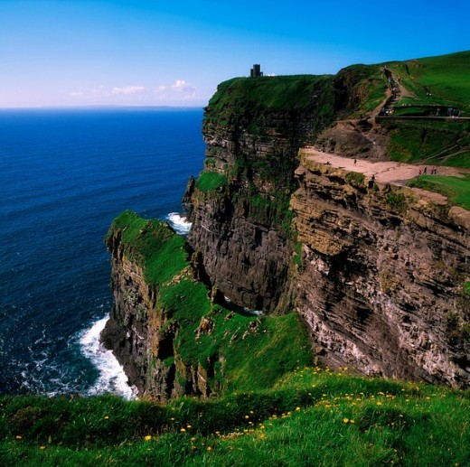 Stock Photo: 1889R-12243 Cliffs of Moher, County Clare, Ireland