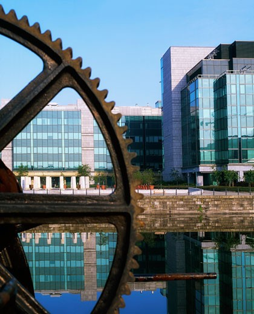 Stock Photo: 1889R-12536 Dublin City, Co Dublin, Ireland, International Financial Services Centre (IFSC)