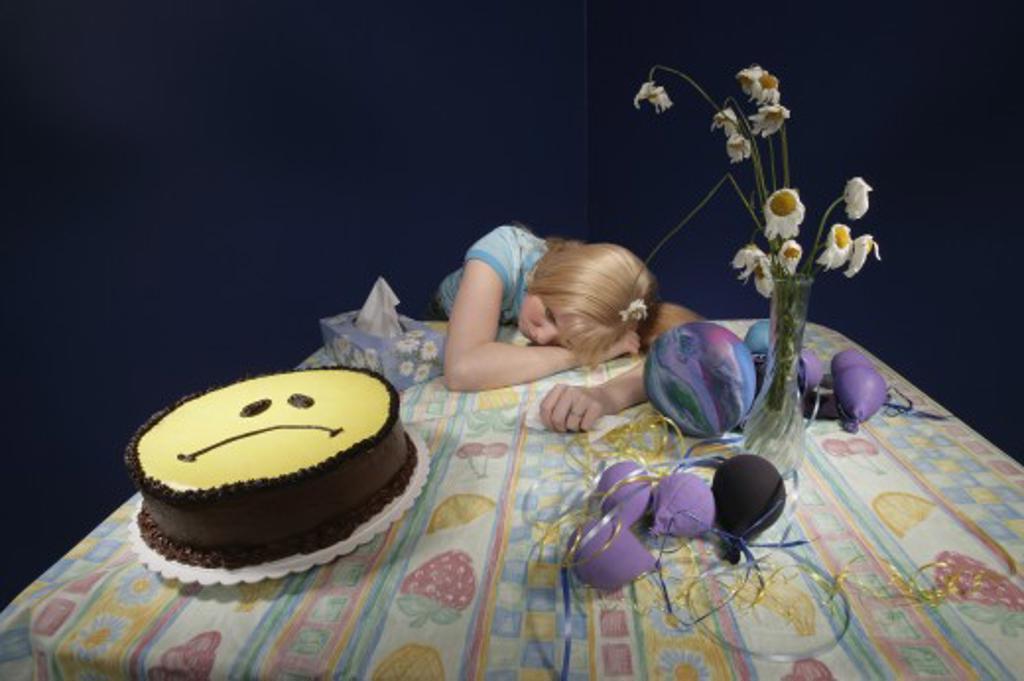 Stock Photo: 1889R-12852 Woman feeling sad