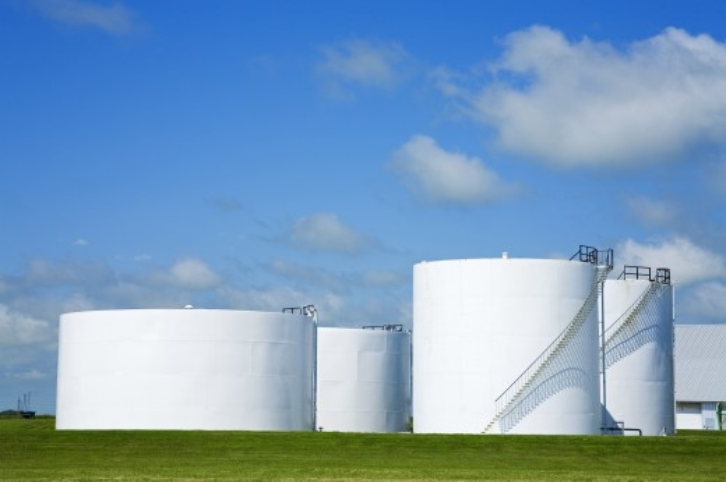 Oil storage terminal, Winnipeg, Manitoba, Canada   : Stock Photo