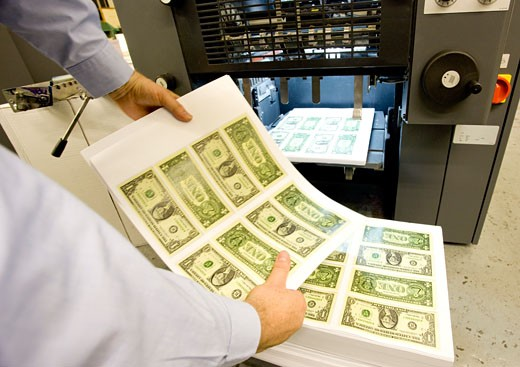 Stock Photo: 1889R-14387 Sheets of American money