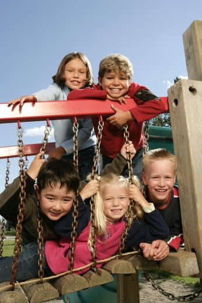 Stock Photo: 1889R-14804 Children on playground