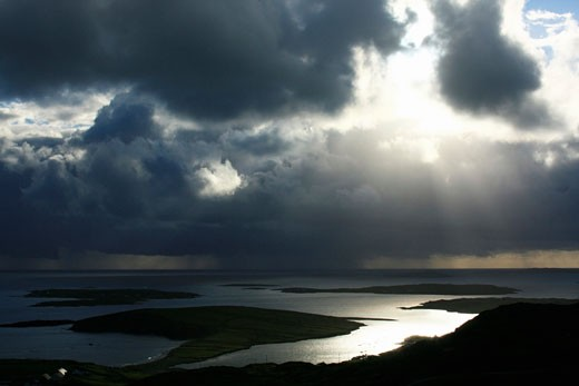 Skyroad, Clifden, Co Galway, Ireland; View from scenic road : Stock Photo
