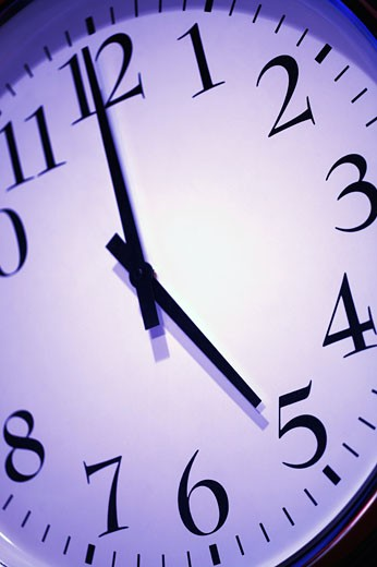 Stock Photo: 1889R-1718 Clock face