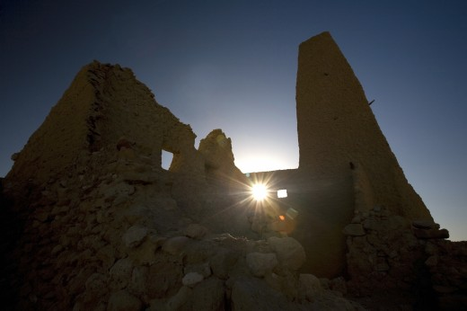 Siwa Oasis, Egypt; The Temple of the Oracle : Stock Photo