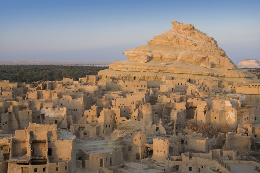 The 13th century mud-brick Fortress of Shali, Siwa Town, Siwa Oasis, Egypt, Africa : Stock Photo